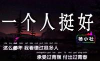 《一个人挺好》杨小壮 高品质 【MP3/flac】